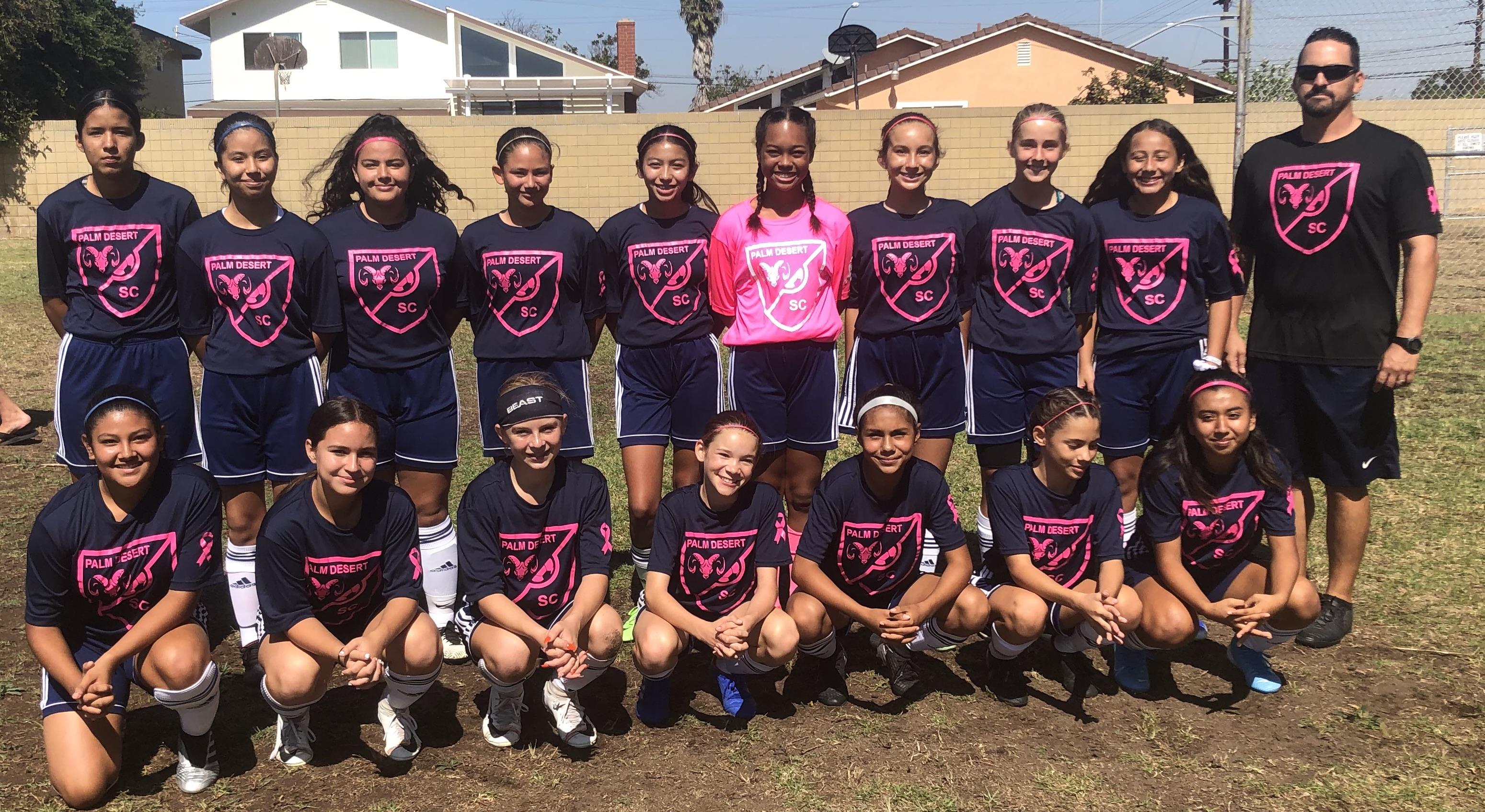 Palm Desert Soccer Club girls team