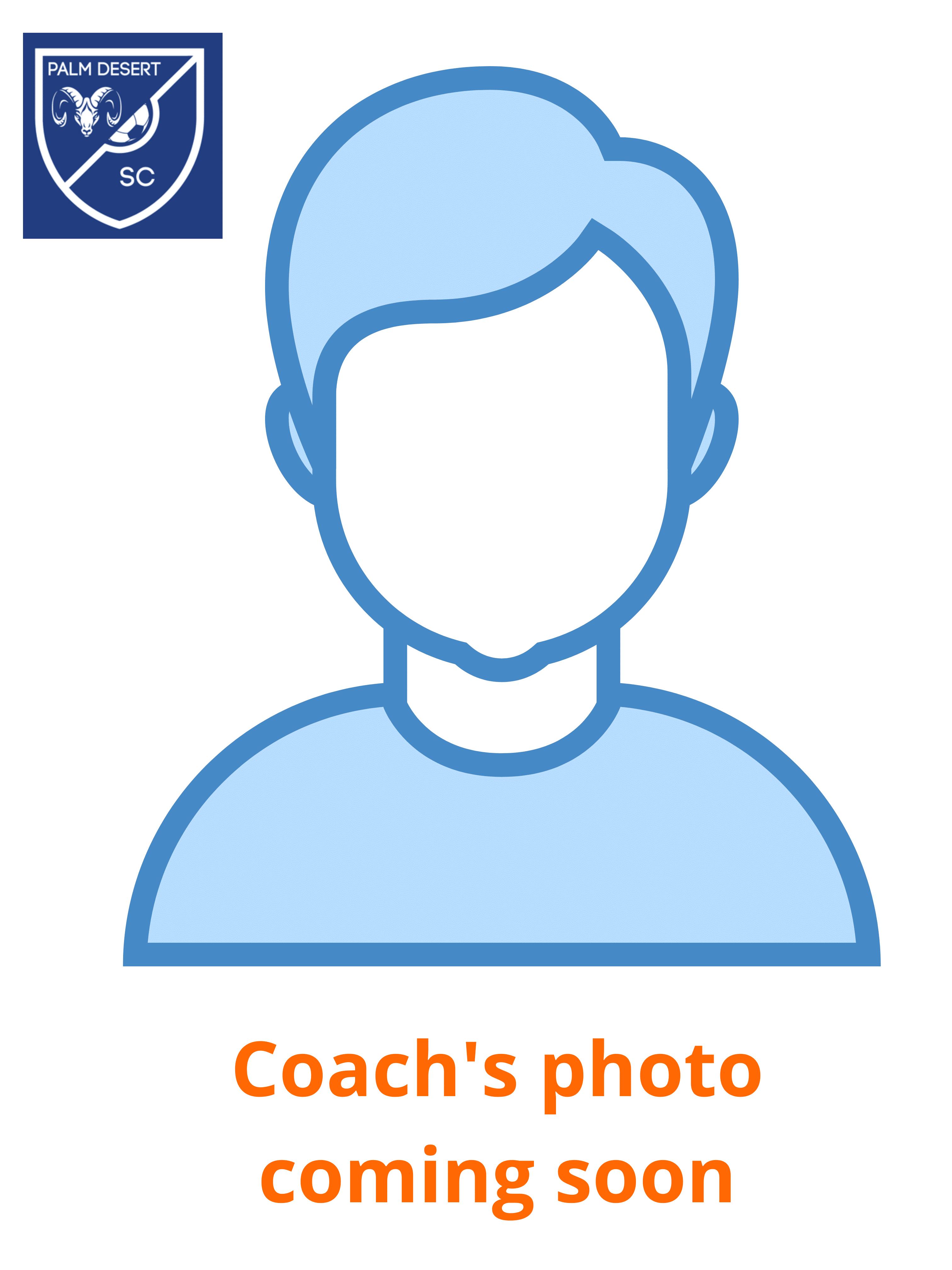 Palm Desert Soccer Club Coach's Photo coming soon