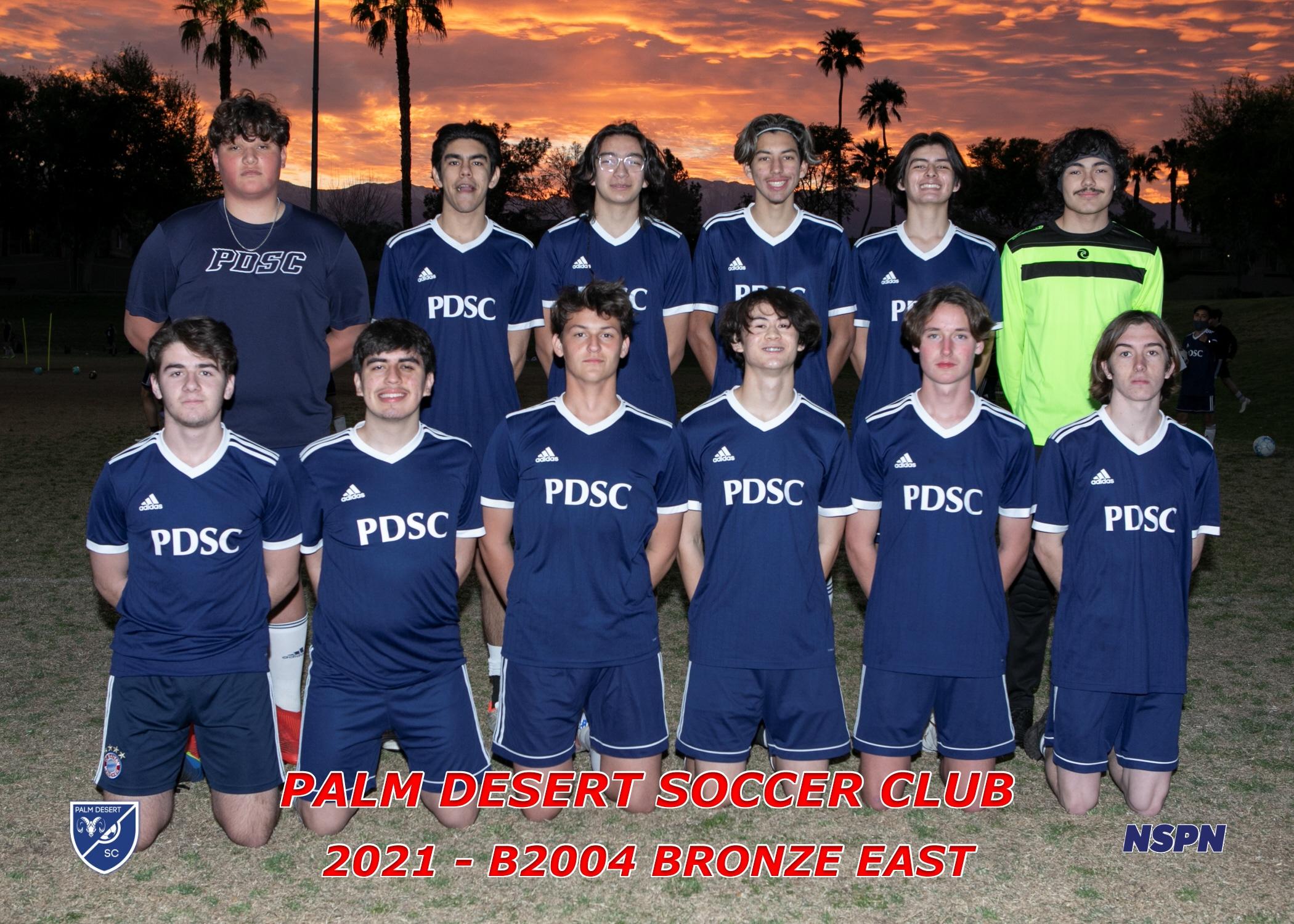 Palm Desert Soccer Club B2004 Bronze East
