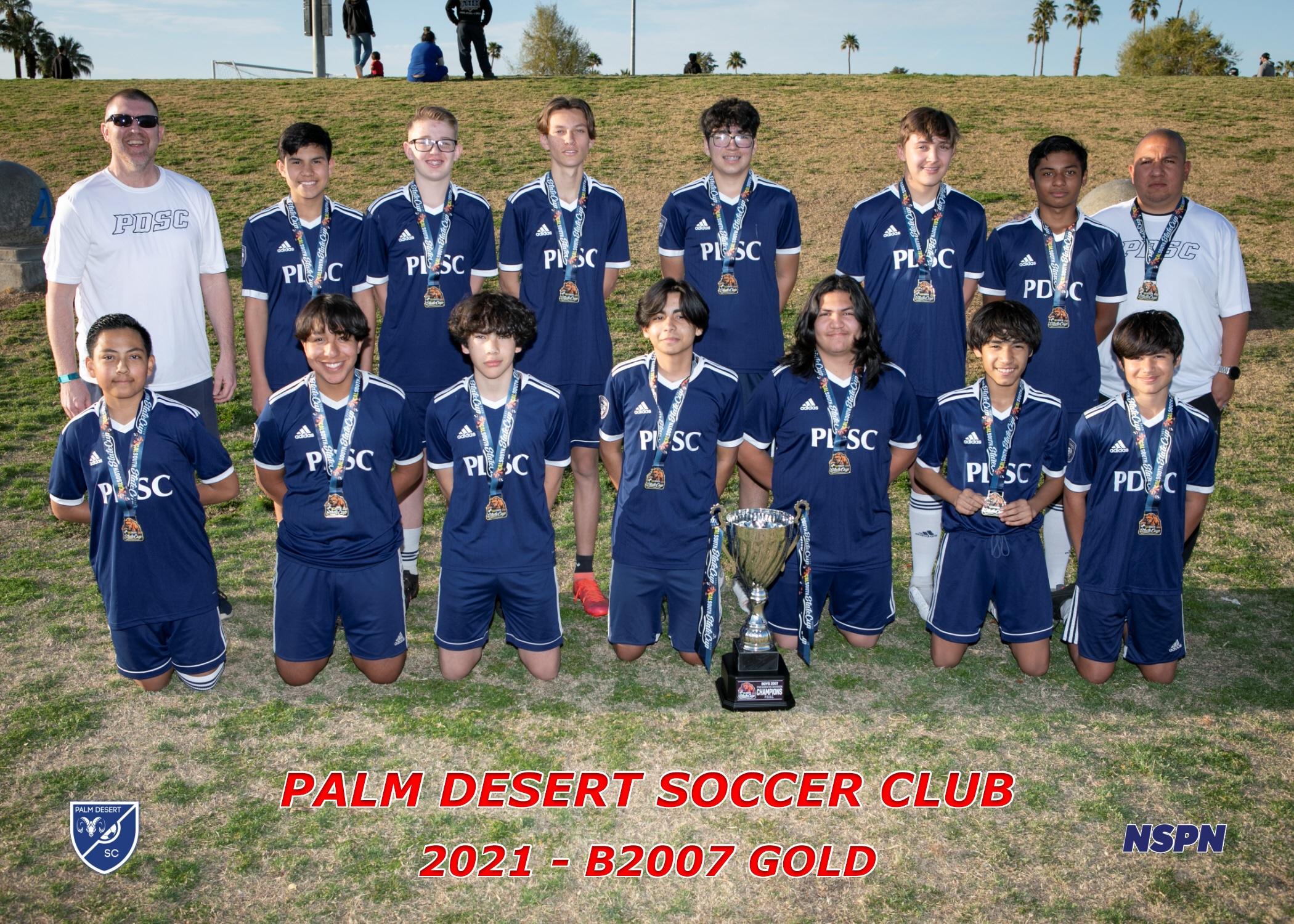 Palm Desert Soccer Club B2007 Gold