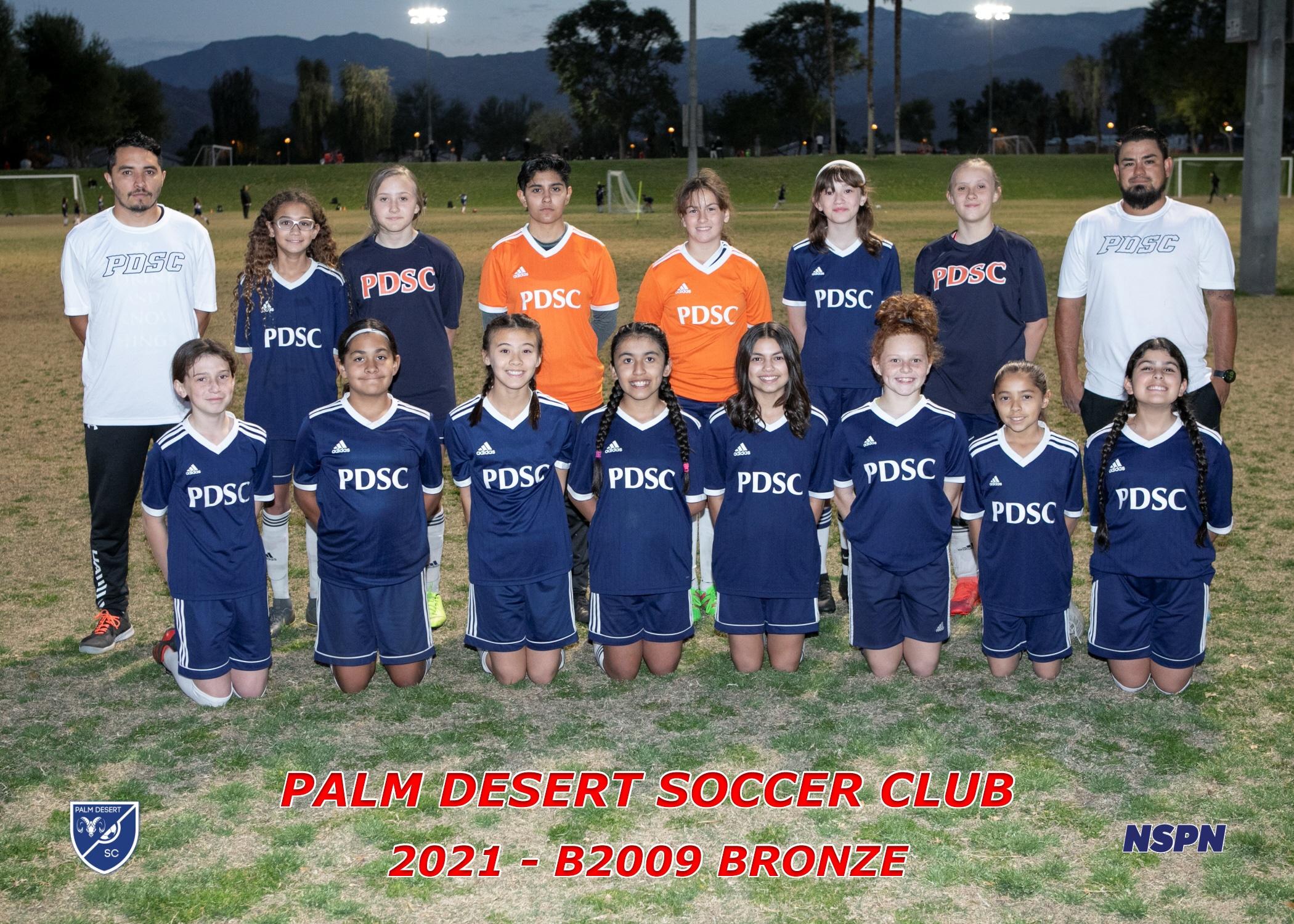 Palm Desert Soccer Club G2009 Bronze